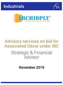 Advisory services on bid for Associated Décor under IBC