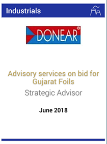 Advisory services on bid for Gujarat Foils