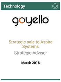 Strategic sale to Aspire Systems