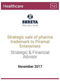 Strategic sale of pharma trademark to Piramal Enterprises
