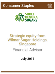 Strategic equity from Wilmar Sugar Holdings, Singapore