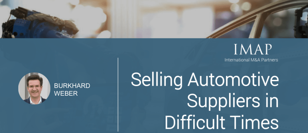 Selling Automotive Suppliers in Difficult Times – Insights from IMAP Germany