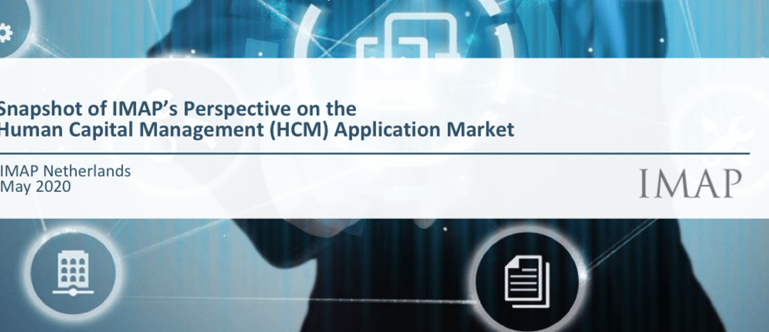 Snapshot of IMAP Netherlands Perspective on the Human Capital Management (HCM) Application Market