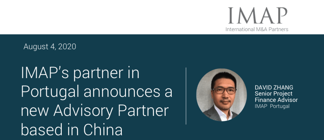 IMAP Portugal announces a new Advisory Partner based in China