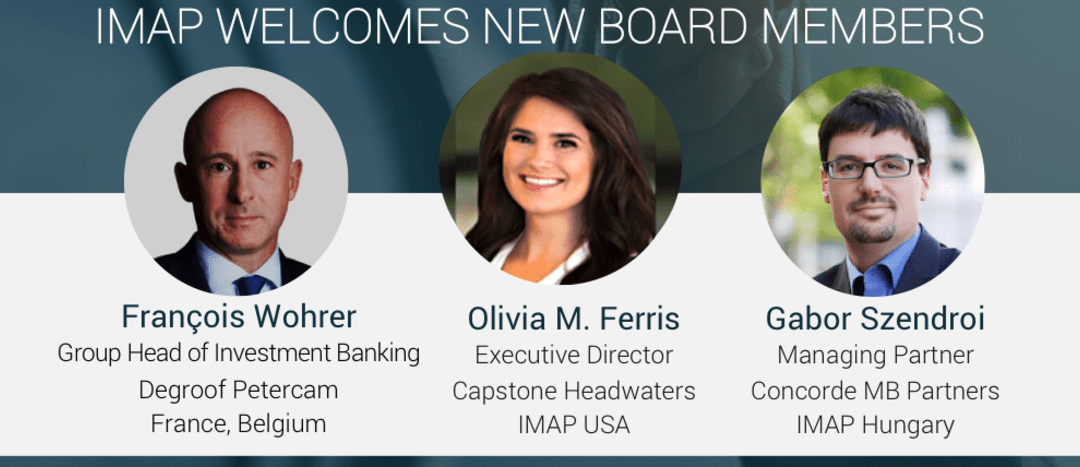 IMAP welcomes three new members to the Board
